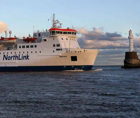 MV Hrossey and MV Hjaltland sail from Aberdeen to the Orkney and Shetland Islands